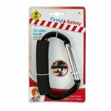 Baby Stroller Hook Buggy Puschair Bar Hook Strap Pram Hooks With Carabiner Clip