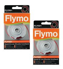 2x Genuine Flymo Double Autofeed Strimmer Spool & Line Power Trim 500 500XT