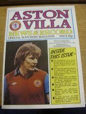 20/02/1980 Aston Villa v Blackburn Rovers [FA Cup Replay] (Folded). Condition: W