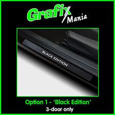 Black Edition Vauxhall Corsa D 3 Door Carbon Vinyl Sill Protector Guard Stickers