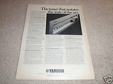 Yamaha RARE Tuner Ad from 1975,CT-7000 Best Tuner ever!
