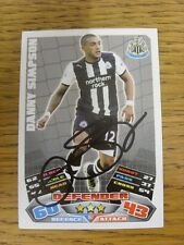 """2011/2012 AUTOGRAFO: Newcastle United-Simpson, Danny [firmato a mano """"TOPPS MATCH"""