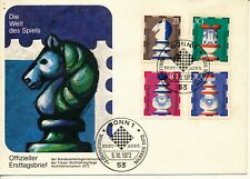 GERMANY 1972 CHESS STAMPS FDC