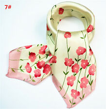 Women's Fashion Silk Kerchief Scarves Square Neck Spring Summer Scarf 7#