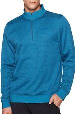 Under Armour Storm Feeder 1/4 Zip Mens Long Sleeve Top Blue Golf Sweater Jumper