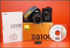 Nikon D3100 DSLR Fotocamera 14.2 MP + Nikon 18-55mm Lens Kit-II solo 7,215 scatti