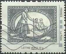Timbre Sports d'hiver France collector o lot 23322