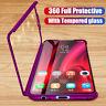 For Xiaomi Mi 9T 9 SE 8 Lite A3 360° Protect Hard PC Case Cover + Tempered Glass