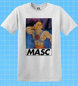 Masc Man T-shirt He Retro LGBT Muscle Tee Pride Gay Funny Dom Bottom Trade