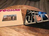 "FOGHAT Vinyl LP Lot of 2 Album LIVE, Rock And Roll Outlaws 12"" VIntage"