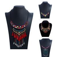 Bohemian Necklaces Vintage Ethnic Boho Jewelry for Women Big Tribal Pendant