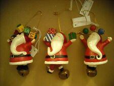 Santa Ornaments with Bells (Bulk Sale - 7 Items)