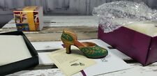 Just The Right Shoe By Raine carved heel 25096 green
