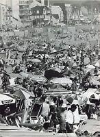Photo Robert Doisneau - Métro Plage - Tirage argentique d'époque -
