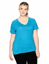Fruit of the Loom Womens Plus SZ Breathable Shirred T-Shirt- Pick SZ/Color.