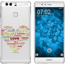 Case für Huawei P9 Silikon-Hülle pride Herz M5 + 2 Schutzfolien