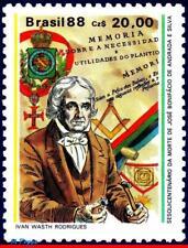2131 BRAZIL 1988 JOSE BONIFACIO, MASONIC EMBLEMS, FREEMASONRY, MI# 2248, MNH