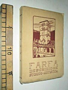 1932 FARFA DESCRIZIONE STORICO ARTISTA IPPOLITO BOCCOLINI STORIA ARTE  sc255