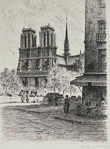 Cathédrale Notre-Dame de Paris  Louis Emiel CHAPPEL (1888-1963) France vers 1930