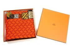 Auth HERMES A CHEVAL SUR MON CARRE CASHMERE SILK in box SILK SCARF SHAWL GM 54""