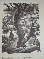 Valentin Nikolaevitch BITT LE CAMPION GRAVURE BUCHERON ART DECO RUSSIE 1940