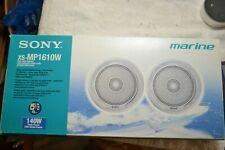 Pair of Sony Model XS-MP1610W Marine Boat Speakers