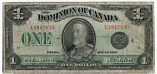 Dominion of Canada 1923 $1 One Dollar Black Seal Campbell-Clark VG King George V