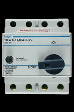HAGER 100 AMP 30mA DOUBLE POLE RCD CD 285B 164114
