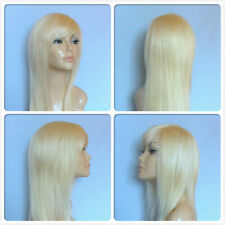 HIGH HEAT RESISTANT LONG SMOOTH HAIR PALE BLONDE LADY WOMENS DAILY FULL WIG UK