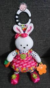 "Baby Rattle Bunny Rabbit Hanging Toy Plush - Kids Preferred AB - 11"""