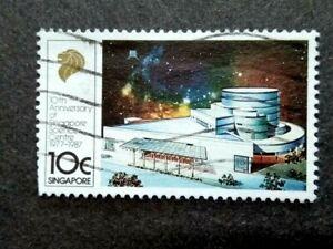 Singapore 1987 10th Anniversary Singapore Science Center 10c - 1v Used
