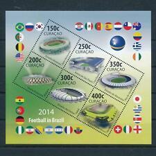 [CU217] Curacao 2014 World cup soccer football Brazil Souvenir Sheet MNH