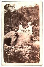Antique military RPPC postcard Soldiers & ladies with pineapples Maryland 1911