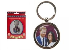 Prince Harry Meghan 2018 Royal Wedding Oval Metal Keyfob Keyring Key Chain Gift