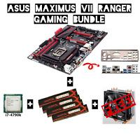 ASUS MAXIMUS VII RANGER ATX Motherboard & i/o shield + i7-4790k CPU + 32GB RAM