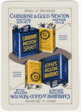 Playing Cards 1 Swap Card Old Antique Wide CARBURINE MOTOR SPIRIT Car Petrol Oil
