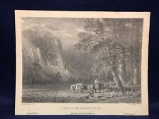 1971 Limited Edition Reprint 118/2000 Of A Halt In The Yosemite Valley Y4