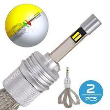 2X 880 LED Headlight Bulbs 881 899 80W 11000LM Dual Color Amber/Yellow Fog Light