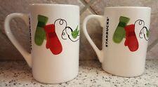 """Set of 2 Starbucks Coffee Mugs Mittens Birds  4 1/4"""" Tall 10 Fl. Oz."""