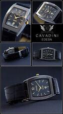VERY NICE Cavadini Toneau Men's Watch Special Design in Black NEW