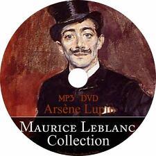 Maurice LeBlanc Audiobook Collection English on 1 MP3 DVD Arsène Lupin Free Ship
