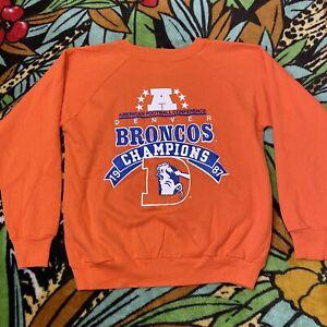 Rare Vintage 80s Champion Brand Denver Broncos Pullover Sweater Mens Size M
