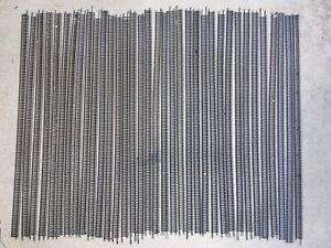 "HO Lot of 35 Pieces Of Used 36"" Atlas Code 100 Nickel Silver Flex Track"