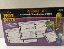 Hot Dots: Academic Vocabulary Cards, Grades 1-3 Educational Insights Homeschool