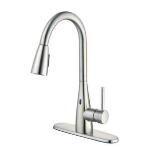 Vazon Touchless Single-Handle Pull-Down Sprayer Kitchen Faucet Stainless Steel