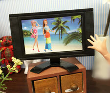 10.5 x 6cm Doll House Doll Furniture Miniature LCD TV Television For Barbie