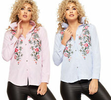 Floral Regular Size Tops & Blouses for Women with Buttons