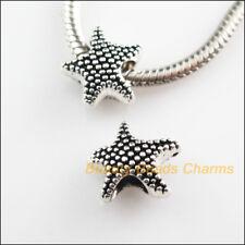 10Pcs Tibetan Silver Tone Animal Starfish Spacer Beads Charms 12x13mm