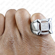 1.20 Carat Men's White Gold Over Diamond Engagement Wedding Pinky Band Ring