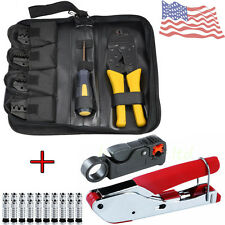 Pro Coax Coaxial Cable Tool Kit - Terminal Crimper Stripper Plier Cutter RG58/59